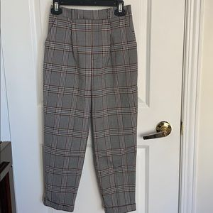 Forever 21 straight leg plaid pant size XS/S